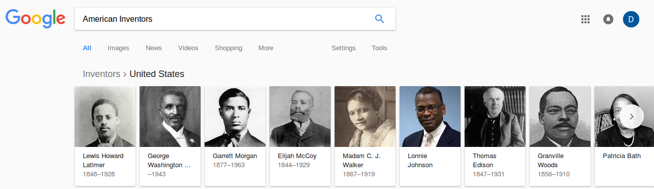 Google American Inventors in English